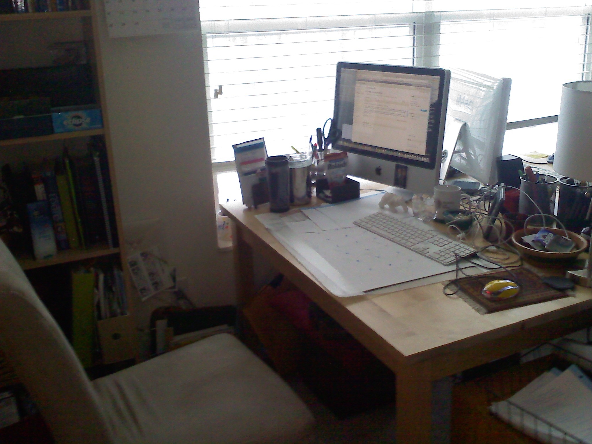 my home office. But \u2014 It Turns Out My Home Office Is Lovely\u2026 The Snow Blowing Outside, It\u0027s Warm And Cozy In Office\u2026 I Have Music, A Nice Window To Watch